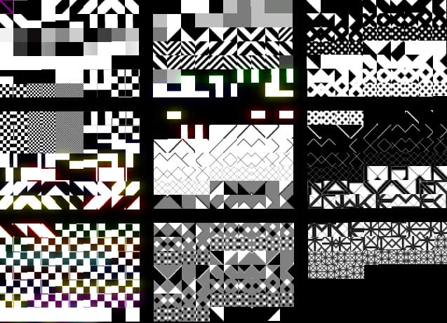 Monochrome Textures CFG