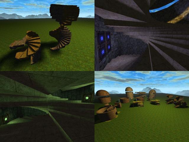 Spiralz - stuff added (Da Vinci stairs)