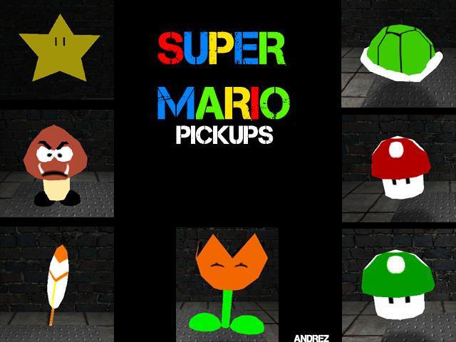 Super Mario Pickups