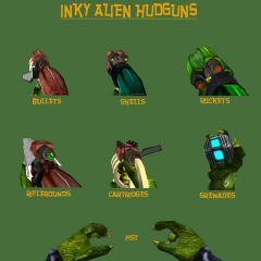 Inky Alien Hudguns