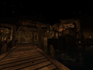 Tortuga - Harbortown at night