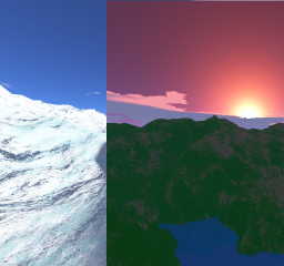 four skyboxes