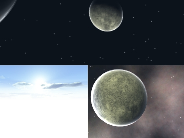 Altitude, Space1, and Space2 Skyboxes