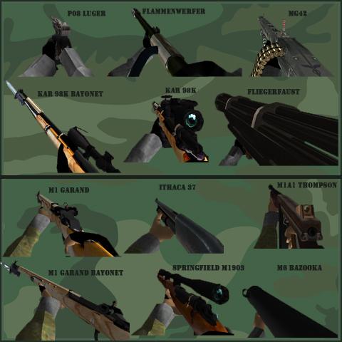 WWII Hudguns Sets